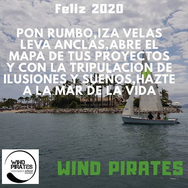 As the year draws to a close,Wind Pirates team would like to extend our warmest wishes for a season full of joy and cheer and a prosperous new year ahead!!. Pirate life is much better  # mallorcamagic.magazin @kayakalcudia
